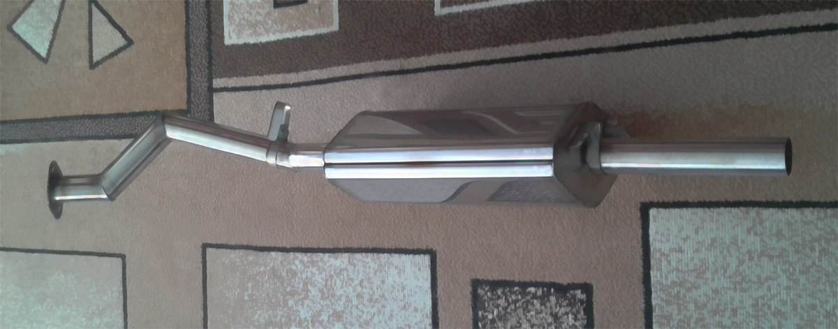 Длина глушителя - 380 мм